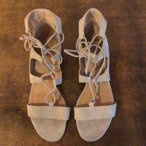 Tahari Open Toe Suede Gladiator Sandal